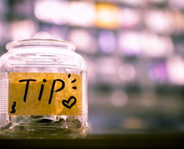 A tip jar.