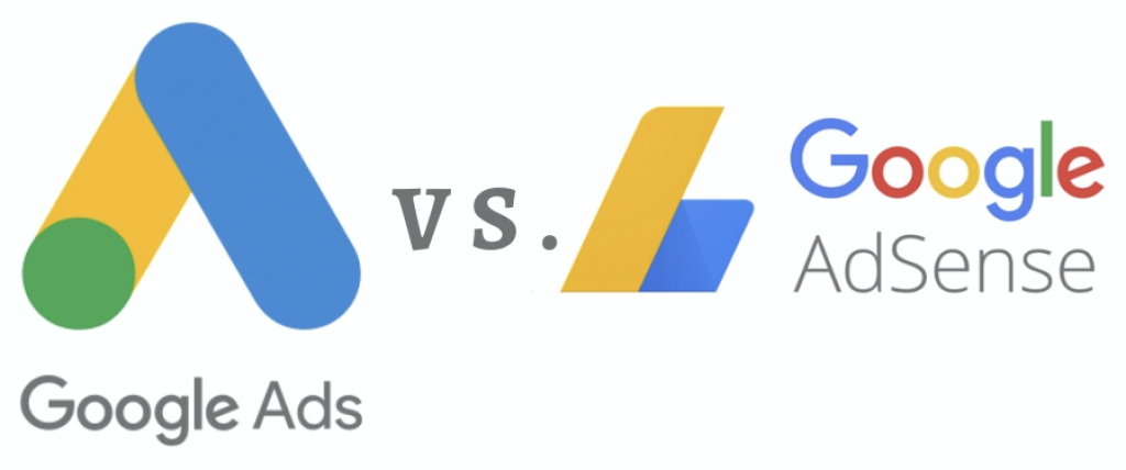 Google Ads vs AdSense Logos