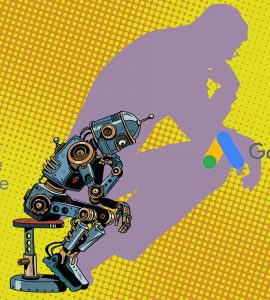 robot thinking about the difference between adwords and adsense.