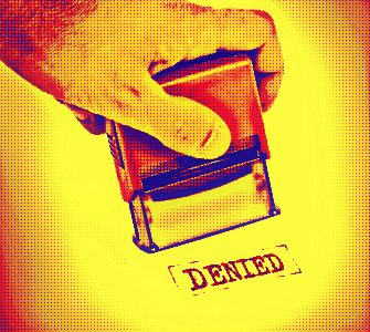 rubber stamp stamping denied