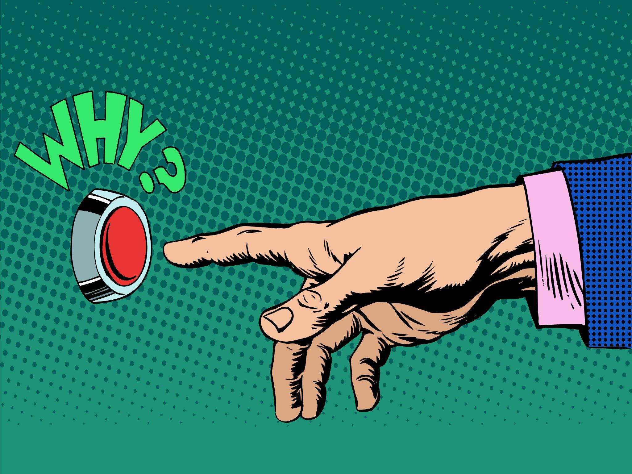 Hand Pressing Button Pop Art