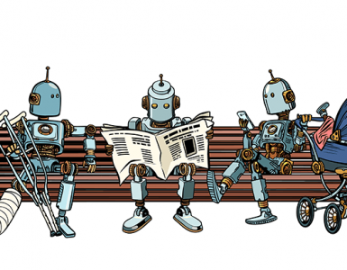 bots sitting on bench