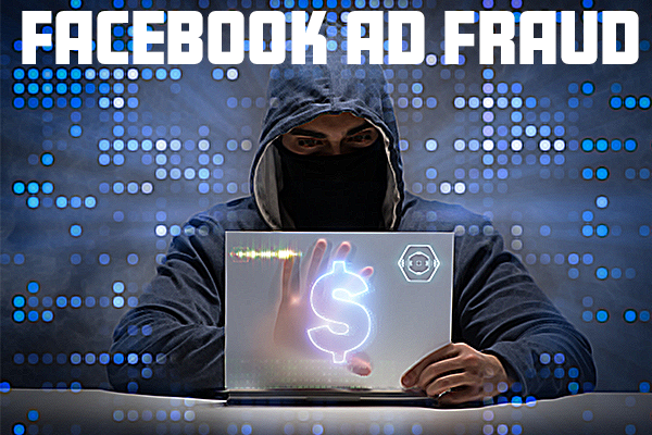 man committing ad fraud on facebook