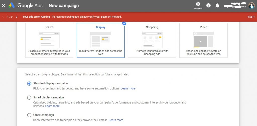 Create a Google Ads campaign for the display network easily