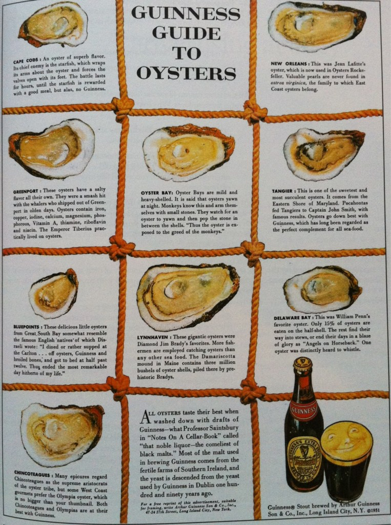 Guiness guide to Oysters was an early version of native advertising