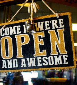An open sign that also acts as a great inbound marketing analogy