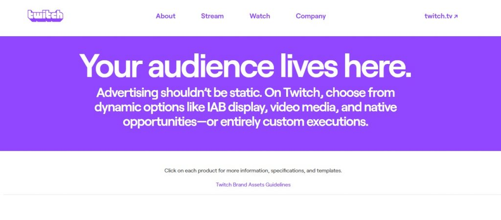 Twitch could be an effective advertising platform for some