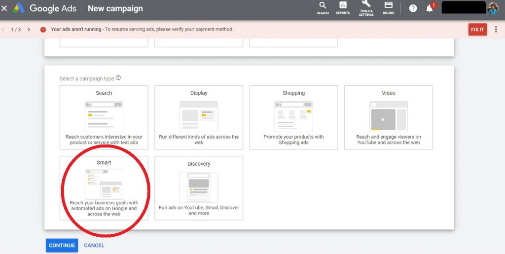 Google Adwords Express became Smart Campaigns in the Ads dashboard
