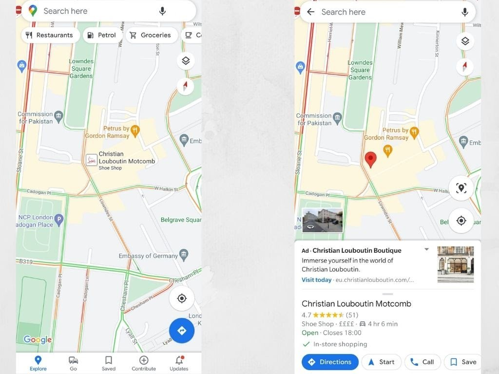 You can also add branding to Google Maps ads