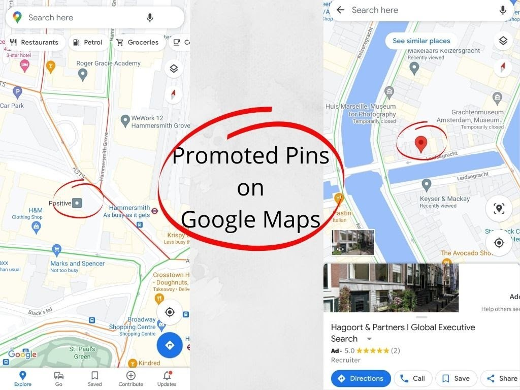 Promoted Pins on Google Maps are designed to stand out