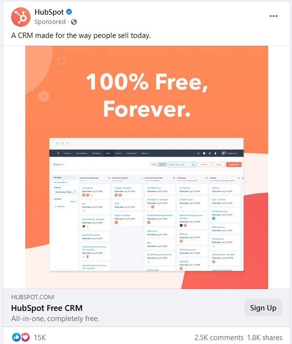 How to write Facebook Ads? Using short and simple copy