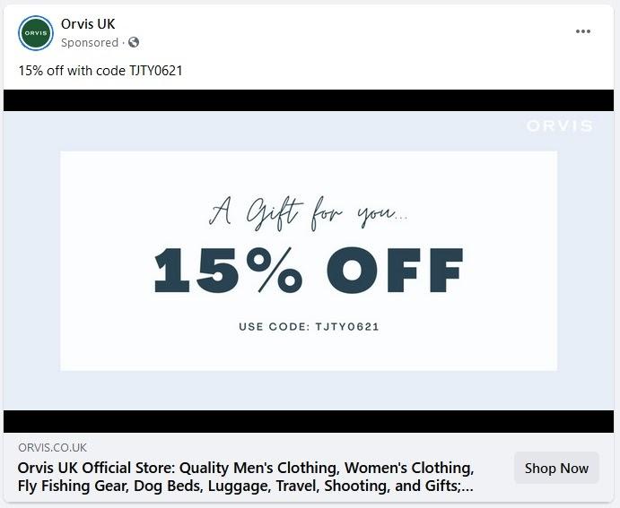An example of a badly written Facebook Ad