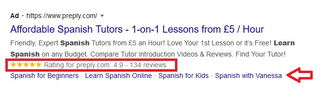 Google Ads extensions make it easier to see what your business offers